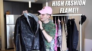 high fashion thrift haul 2 guess moto jacket bomber jackets bape esque ish and streetwear