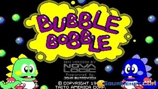 Bubble Bobble gameplay (PC Game, 1987)