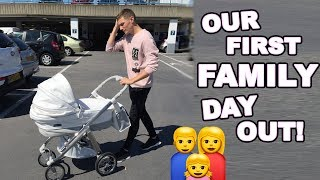 TAKING OUR NEWBORN OUT FOR THE FIRST TIME!! || Casey Barker Vlogs