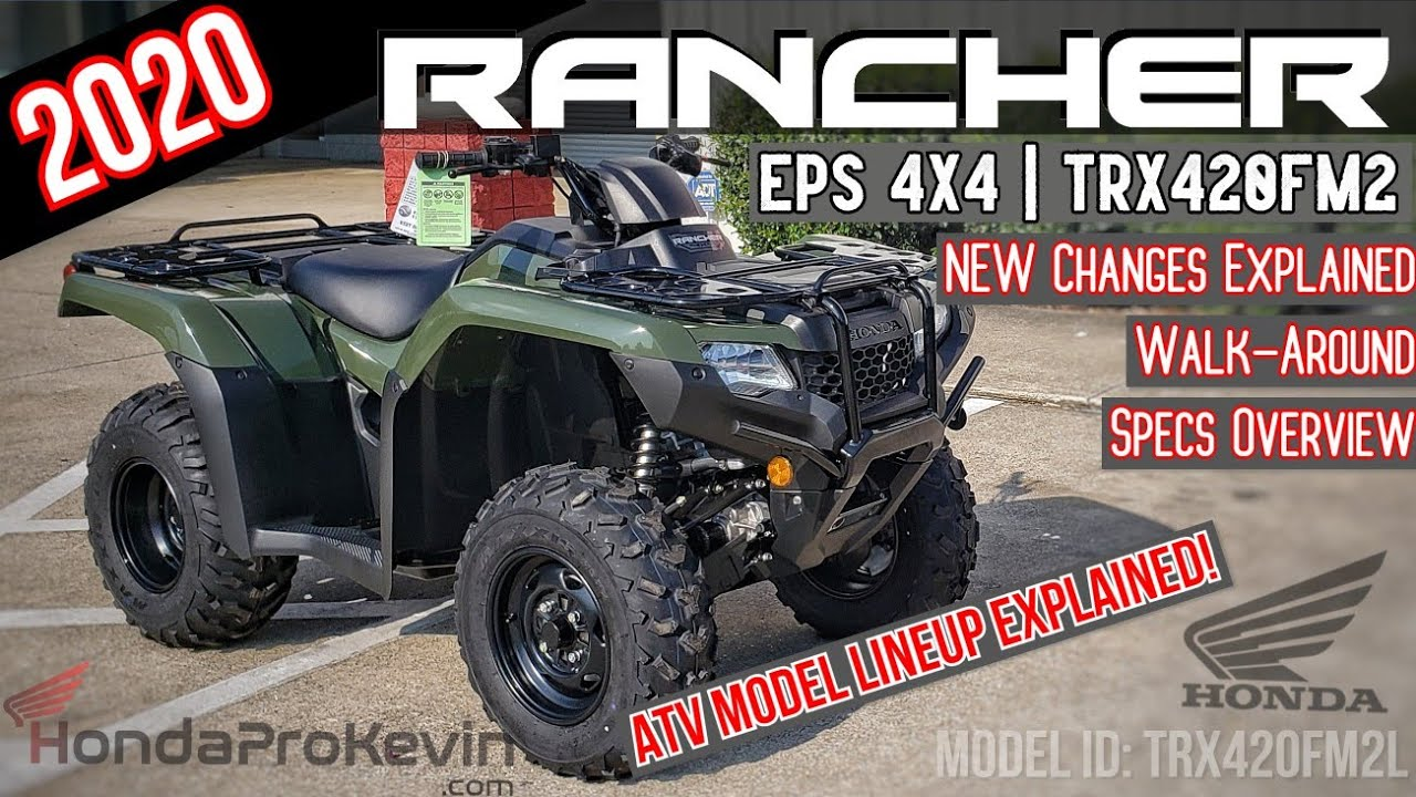 2020 Honda Rancher 420 Eps 4x4 Atv Review Of Specs New Changes Explained Trx420fm2 Olive Youtube