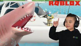 I'M THE SHARK!! Roblox Sharkbite CKN Gamingg
