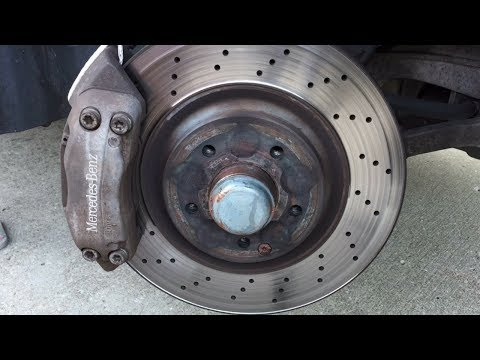 How to change front and rear brakes W203 Mercedes Benz C230 and C-Class