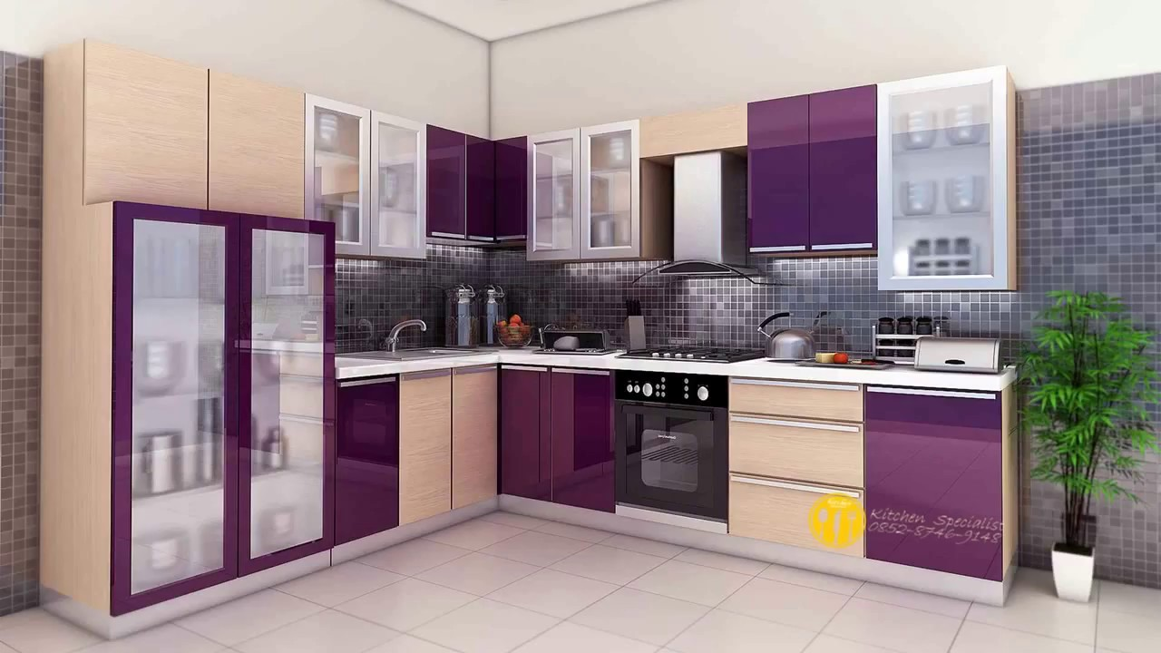 Minimalist Purple Kitchen Set