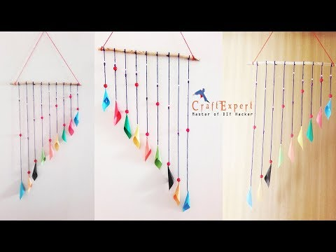 DIY Wall Hanging Room Decor Craft - How to Make Wind Chimes out of Paper | DIY Paper Crafts
