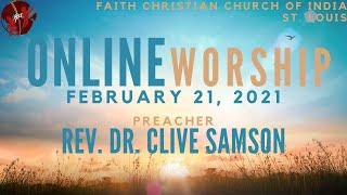 FCCIndia Live Worship 02/21/2021  FCCI St. Louis