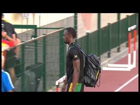 Usain Bolt Pranks a Girl at World Athletics Champs 2013