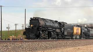 Big Boy #4014 UP #844 Double header Rawlins to Rock Springs, Wyoming
