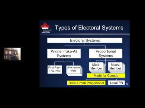 PR Systems For Canada:  Rural Urban Proportional And Local PR