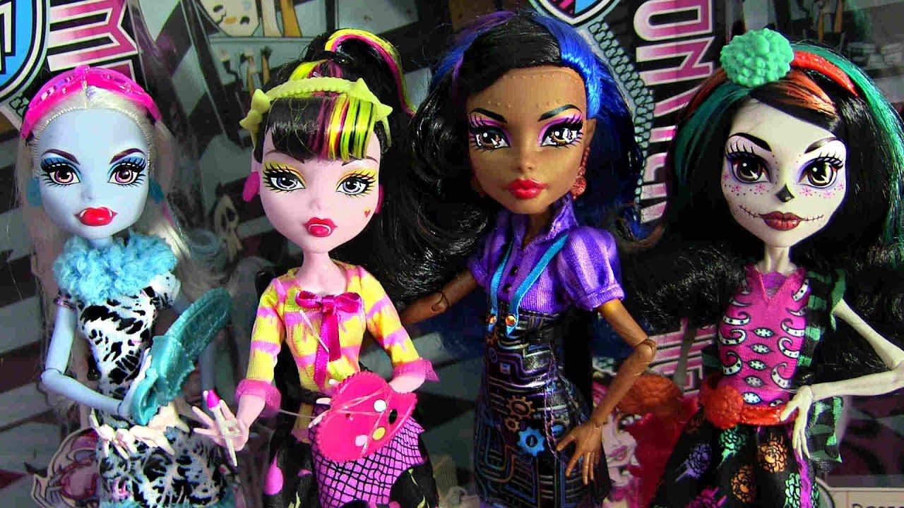 Monster high art class dolls review video d abbey - Monster high youtube ...