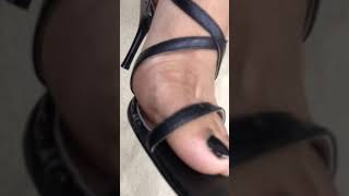 Sexy indian feet in ankle strap heels