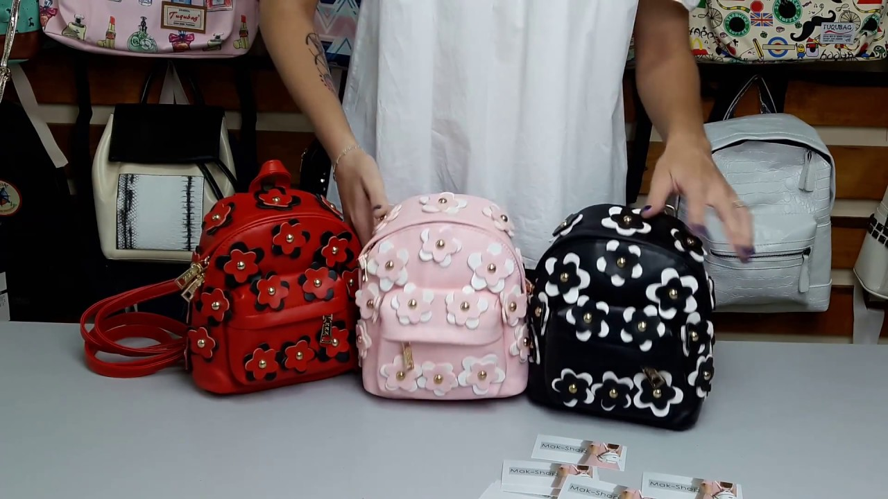 c1e591af2e45 Маленький женский рюкзак с Цветами - YouTube