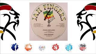 """Dubmatix Ft Linval Thompson - Peace and Love + DUB  (12""""Vinyl 2017 By Jah Fingers & Dubmatix)"""