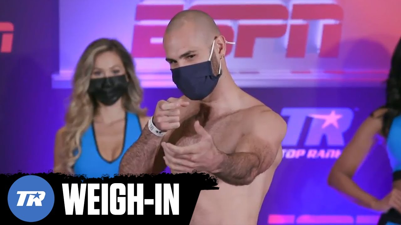 Jose Pedraza & Javier Molina Make Weight, Main Event Fight Official Tomorrow on ESPN+ | WEIGH-IN