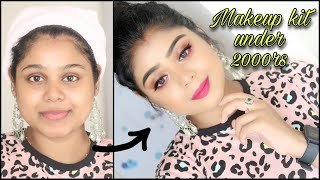 BEGINNERS MAKEUP KIT UNDER 2000|WITH STEP BY STEP MAKEUP TUTORIAL