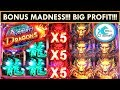 ★WINNING in VEGAS!★ACTION DRAGONS SLOT MACHINE! 3 BIG BONUSES!