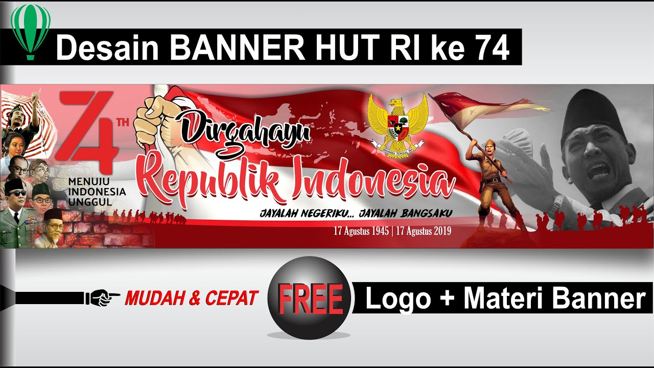 Download 60 Koleksi Background Banner Hut Ri Cdr Gratis