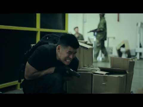 Male spy having diarrhea on a mission