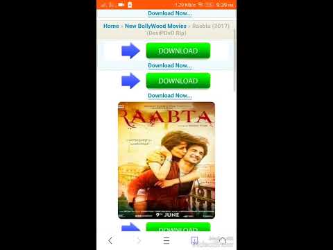 Bollywood new movie how to download without any software.