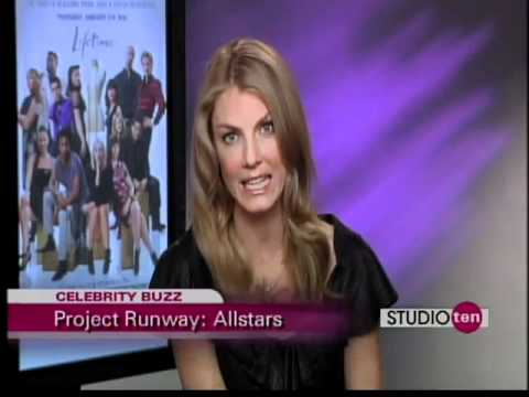Angela Lindvall on Studio 10 for Project Runway All-Stars!