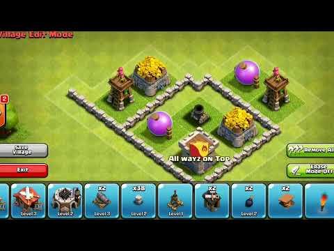 Clash Of Clans: Town Hall level 4 Farm Base/Let's Build