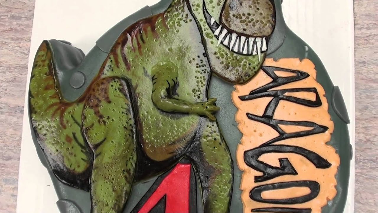 THE CAKE DON THE TREX CAKE YouTube