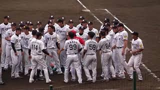 今度は 阪神タイガース 神対応返し『誰が名づけた日の丸胴上げ! 白のユニフォームに赤1つ』 ファーム戦 阪神 vs広島 2017年9月27日