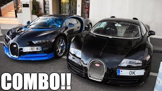 Bugatti CHIRON vs. VEYRON Huge Start-Up & Driving in MONACO!