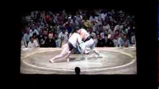 白鵬vs妙義龍 平成27年大相撲五月場所 Sumo Hakuho vs Myogiryu.