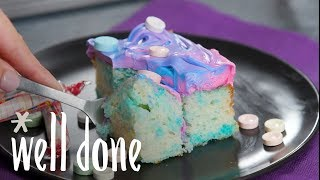 How to Make SweeTARTS and Smarties Tie-Dye Cake | Recipes | Well Done