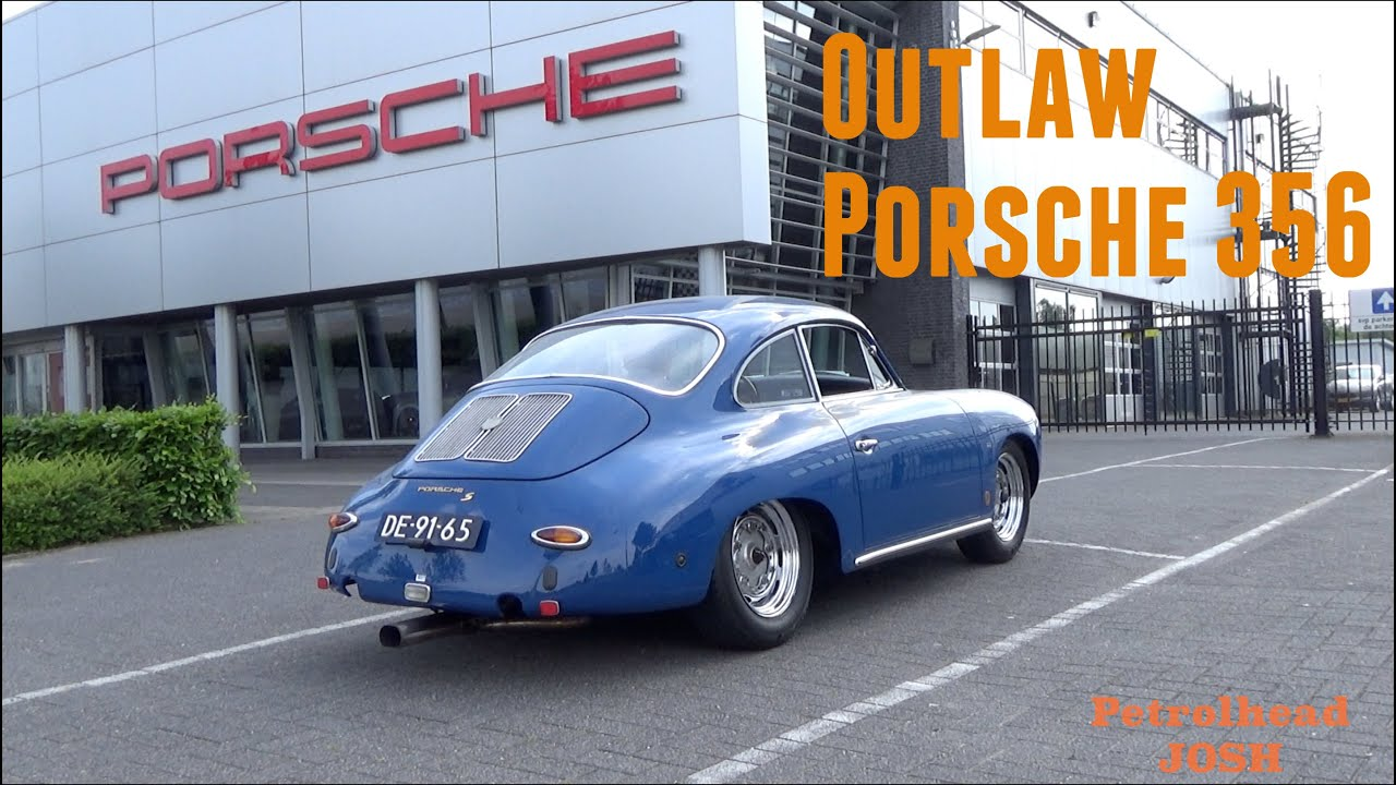 Outlaw Style Porsche 356 With Race Exhaust Loud Onboard