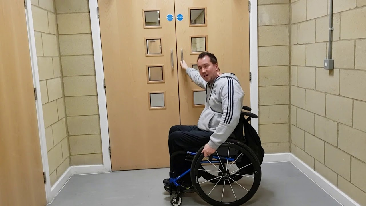 How to open doors in a wheelchair  sc 1 st  YouTube & How to open doors in a wheelchair - YouTube