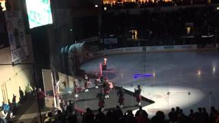 Snohomish County Firefighters Pipes and Drums at the Wenatchee Wild game