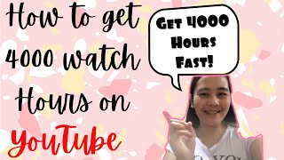 How To Get 4000 Hours Watch Time on YouTube ( tagalog)   Ano ang 4000 Hours Sa YouTube   YouTube Tip