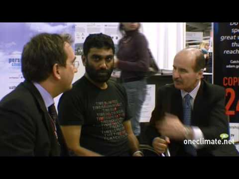 Kumi Naidoo, Martin Frick and Jose María Figueres on the OneClimate Channel at COP15 in Copenhagen