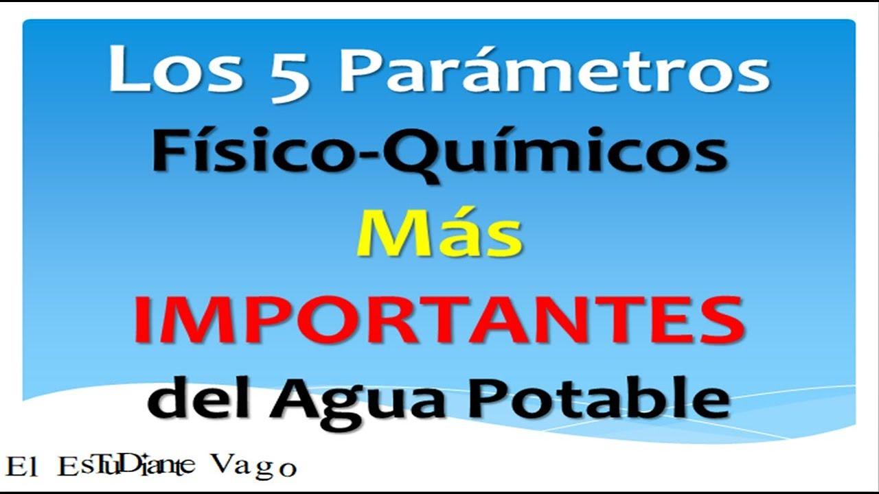 ▶Los 5 Parámetros Fisicoquímicos Más IMPORTANTES del Agua 👇(Diapositivas Descargables)
