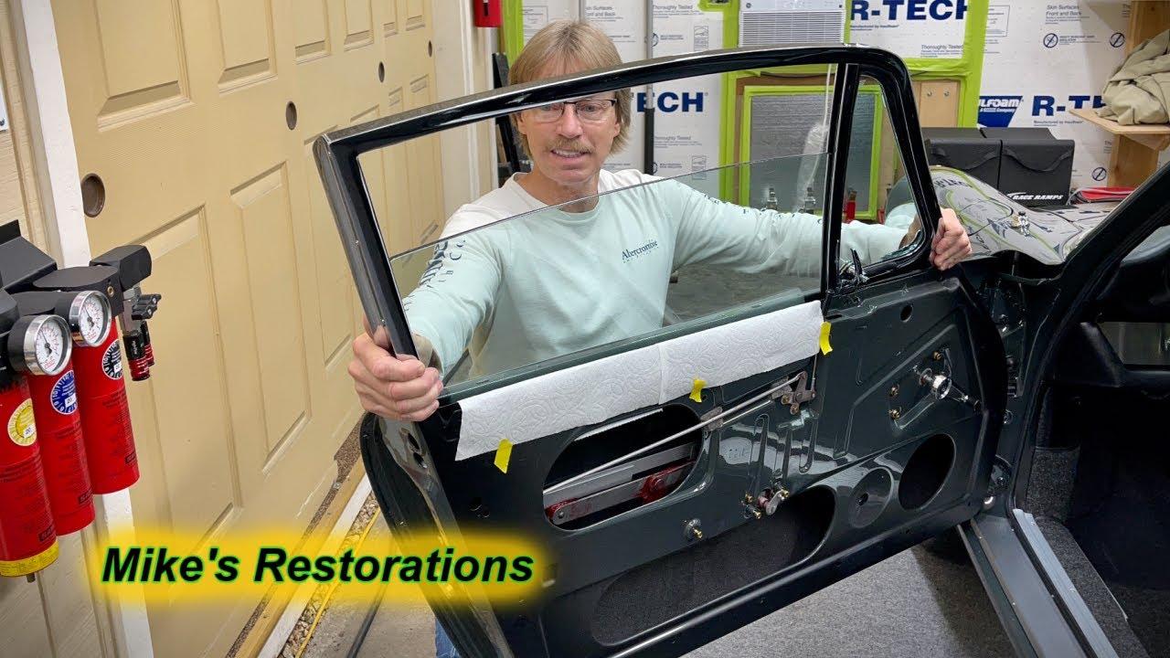 Porsche Chrome Door Rails & Glass Installation Part-2