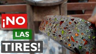 NUNCA MAS TIRARAS VIDRIOS  ROTOS | Como RECICLAR VIDRIO roto en casa.