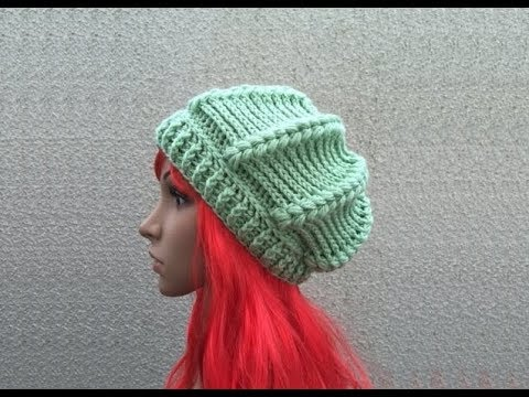 How to Crochet a Beret Beanie Hat Pattern #258│by ThePatternFamily ...