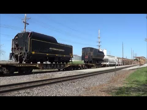 Steam Engine Tenders on BNSF Mixed Freight Train at Ottumwa