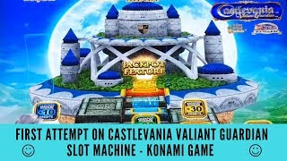 FIRST ATTEMPT ON CASTLEVANIA VALIANT GUARDIAN SLOT MACHINE - KONAMI GAME - SunFlower Slots