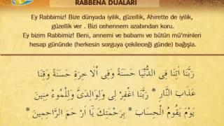 İshak Danış Rabbena Duaları ve türkçe meali