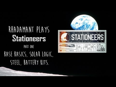 Stationeers Tutorial Part 1 - Base Basics, Solar Logic, Steel and Battery Kits!