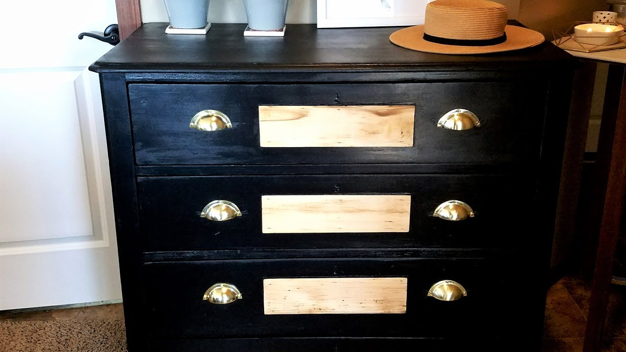 Furniture flip black antique dresser