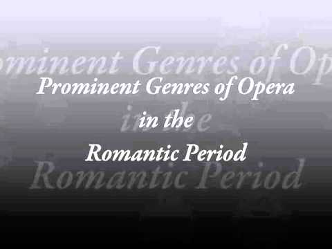Romantic Period Vocal Music Forms