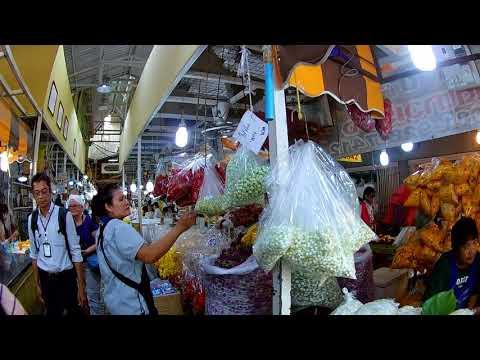 Walking in Bangkok, Thailand - Thai Flower Market (Pak Klong Talad) Series Part 1