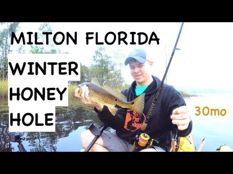 """""""Bagdad Honey Hole"""" catching redfish and trout in milton florida"""