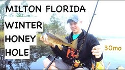 """Bagdad Honey Hole"" catching redfish and trout in milton florida"
