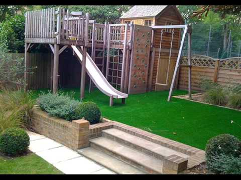 Artificial Grass Garden Designs this garden is mainly artificial grass with a small amount of patio and raised wooden flower Artificial Grass Ideas Synthetic Grass Landscape Design Collection