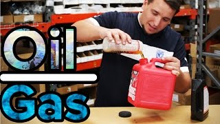 How Mix Oil Gasoline Stroke Motor Engine