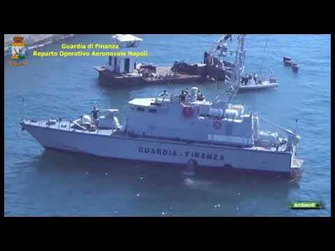 GdF sequestro mitili Golfo di Napoli 10 04 2021